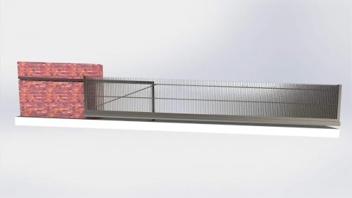 3D Dvoriscna samonosna vrata 1