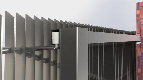 3D Dvoriscna samonosna vrata 2