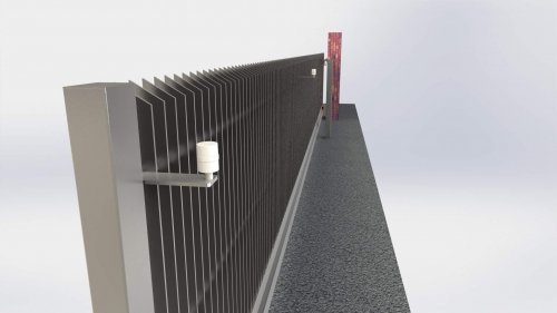 3D Dvoriscna samonosna vrata 3