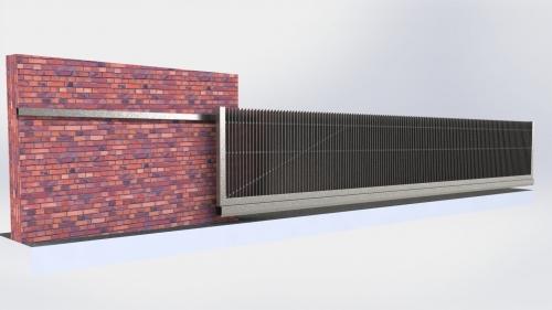 3D Dvoriscna samonosna vrata 4