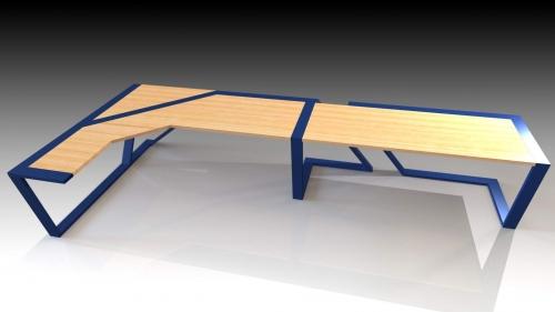 3D Moderna miza 8