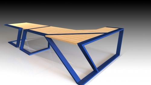 3D Moderna miza 9